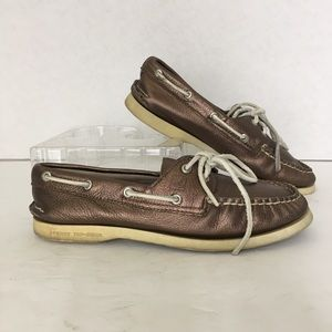 Sperry Top-Siders Boat Shoes US Size 7M Metalic